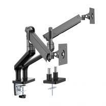 "Brateck Dual Monitor Spring Arm 17-32"" Black"