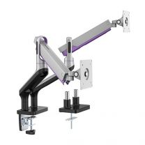 """Brateck Dual Monitor Spring Arm 17-32"""" Silver"""
