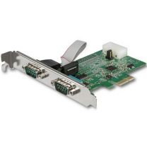 Startech 2 Port RS232 Serial Adapter Card with 16950 UART - PCIe Card