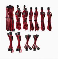 Corsair Individually Sleeved PSU Cables Pro Kit - Red/Black