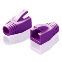 Alogic RJ45 Purple Strain Relief Boot for 22AWG~23AWG Wire Plug (8.0mm OD) : Bag of 10