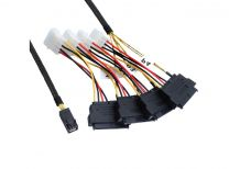 50CM Internal Mini SAS HD to 4xSAS29 And Power Cable