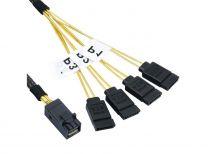 Konix 50CM Mini SAS HD to 4 x SATA Cable