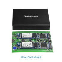 StarTech Dual M.2 SATA Enclosure - RAID - USB 3.1 Gen 2 USB C / USB A