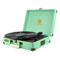 mbeat Woodstock Retro Turntable Player Blue