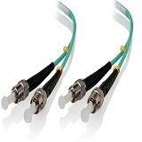 Alogic 0.5m ST-ST 10G Multi Mode Duplex LSZH Fibre Cable 50/125 OM3
