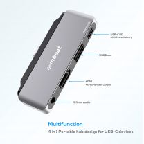 mbeat Elite Mini P6 4-In-1 USB-C Mobile Hub