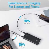 ANKER POWERCORE+ PD w/Cable/Wall Charger Black