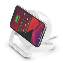 Belkin Boostcharge 10W Wireless Charging Stand + Speaker-White