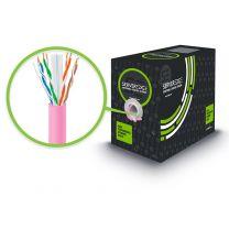 Serveredge CAT6 305m Network Cable PVC PVC - Pink