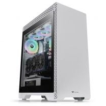 Thermaltake S500 ATX Tempered Glass (Left) Snow Ed. Computer Case - White