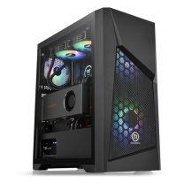 Thermaltake Commander G32 ATX ARGB Tempered Glass Computer Case - Black