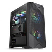 Thermaltake Commander G33 ATX ARGB Tempered Glass Computer Case - Black