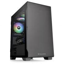 Thermaltake S100 Tempered Glass Micro-ATX Case - Black