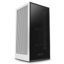 NZXT H1 Mini-ITX Liquid Cooled Computer Case With 650W Gold PSU - Matte White
