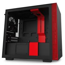 NZXT H210 Tempered Glass Mini-ITX Case - Black/Red