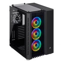 Corsair Crystal 680X RGB High Airflow Tempered Glass ATX Case - Black