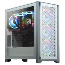 Corsair 400D Airflow Mesh Front ATX Tempered Glass Computer Case - White
