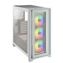 Corsair iCUE 4000X RGB ATX Tempered Glass Computer Case - White