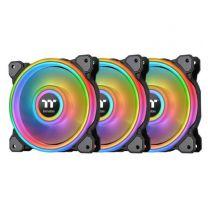 Thermaltake Riing Quad 12 RGB Radiator Fan TT Premium Edition (3-Fan Pack) - Black Edition