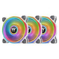 Thermaltake Riing Quad 14 RGB Radiator Fan TT Premium Edition (3-Fan Pack) - White Edition