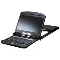 "Aten CL3884NW 18.5"" 4-Port HDMI Multi-View Dual Rail WideScreen LCD KVM Switch"