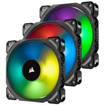 Corsair ML120 PRO RGB LED 120MM PWM Premium Magnetic Levitation Fan - 3 Fan Pack with Lighting Node PRO (CO-9050076-WW)
