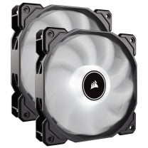 Corsair Air AF140 LED (2018) Low Noise 140mm Fan - White (2-Pack)