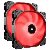 Corsair Air AF140 LED (2018) Low Noise 140mm Fan - Red (2-Pack)