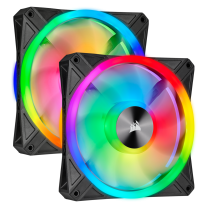 Corsair iCUE QL140 RGB 140mm PWM Dual Fan Kit with Lighting Node