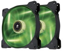 Corsair Air Series SP140 LED Green High Static Pressure 140mm Fan Twin Pack - CO-9050037-WW