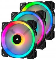 Corsair LL Series, LL120 RGB, 120mm Dual Light Loop RGB LED PWM Fan, 3 Fan Pack with Lighting Node PRO