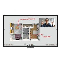 "BenQ CP8601K 86"" Ultra HD DuoBoard Interactive Corporate Flat Touch Panel Display"