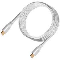 SilverStone CPH01C Premium Braided 4K HDMI Cable Silver 1.8m