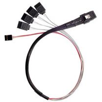 SilverStone CPS03 50cm Mini SFF-8087 to SAS/SATA With Sideband Cable