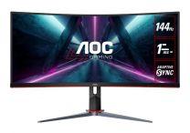 "AOC CU34G2X 34"" 3K Curved 144Hz 1ms FreeSync HAS Ultra-Wide Gaming Monitor"