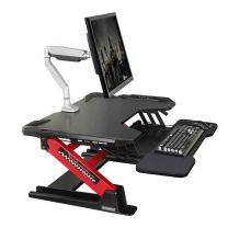 "ONEX Eureka Ergonomic 36"" Height Adjustable Stand Up Desk Converter - Black/Red"