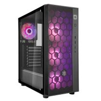 SilverStone Fara B1 Rainbow Tempered Glass ATX Fully Meshed Front Panel Computer Case With (4) 120mm Rainbow Fans