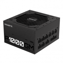 Gigabyte P1000GM 1000W ATX PSU Power Supply, 80+ Gold, Fully Modular - Black