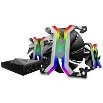 Deepcool 120mm MF120 Aluminum Frameless Smart RGB Case Fan Set