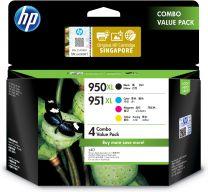 HP 950XL Black/951XL Cyan/Magenta/Yellow 4-pack High Yield Original Ink Cartridges