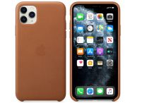 Apple iPhone 11 Pro Max Leather Case-Saddle Brown