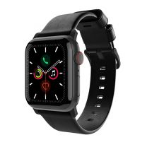 Alogic Journey Apple Watch German Leather Band - Black