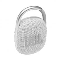 JBL Clip 4 Portable Bluetooth Speaker With Carabiner - White