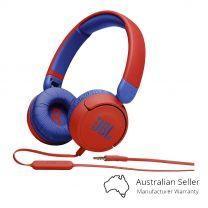 JBL JR310 Kids Wired On-Ear Headphones - Red/Blue