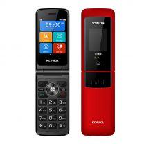 "Konka F21 Flip 2.8"" 128MB/64MB Mobile Phone - Red"