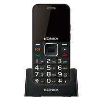 Konka U6 (3G, Keypad, 5MP) - Black/Silver