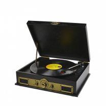 MBeat Vintage Wood Turntable With Bluetooth Speaker