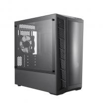 CoolerMaster MasterBox MB320L Tower Dark Mirror Tempered Glass Micro-ATX Computer Case - Black