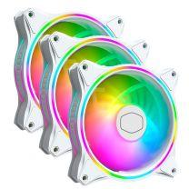 Cooler Master MasterFan MF120 Halo ARGB 120mm White Case Fan - 3 Pack - White Edition